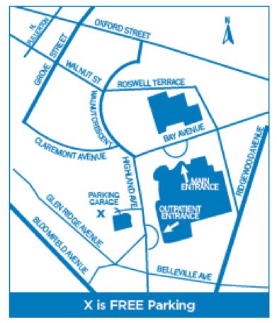Neuroscience Institute Location Graphic
